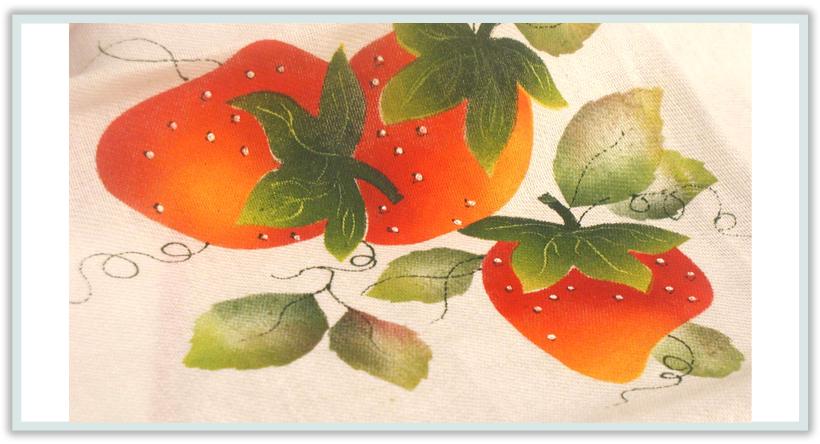 Frutillas sobre telas - Pintura en tela dibujos ...