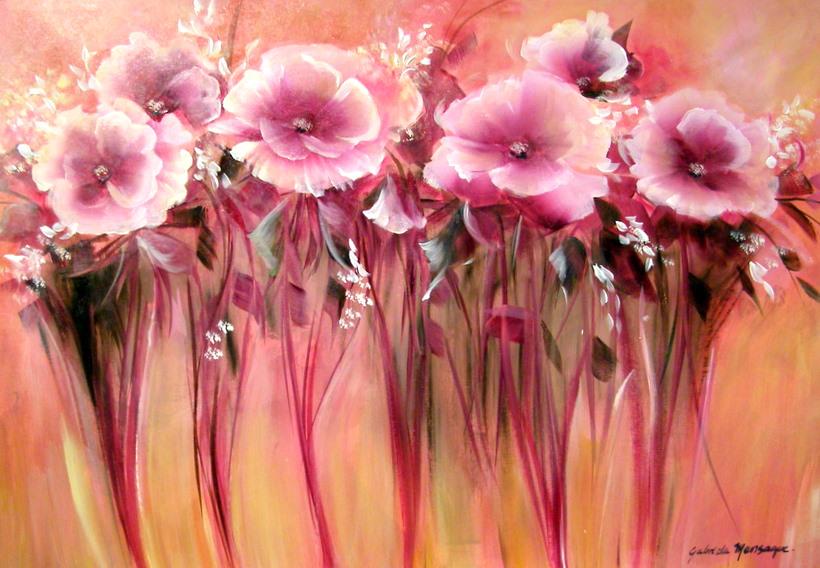 Pinturas cuadros al leo trpticos de flores tattoo design for Pinturas para pintar