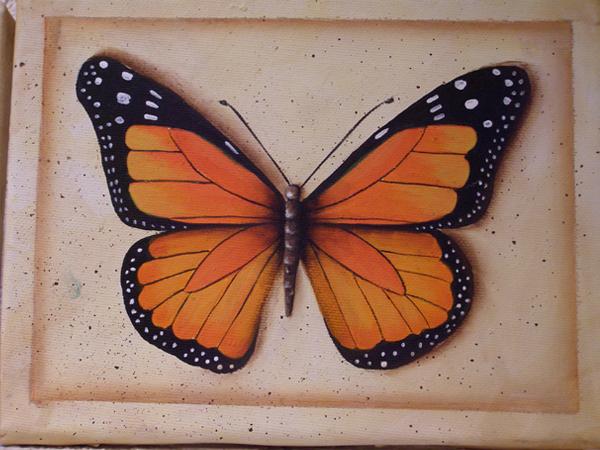 Mariposa azul - Pintar con acrilicos paso a paso ...