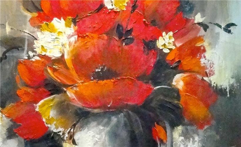 Jarr n con flores rojas - Fotos jarrones con flores ...