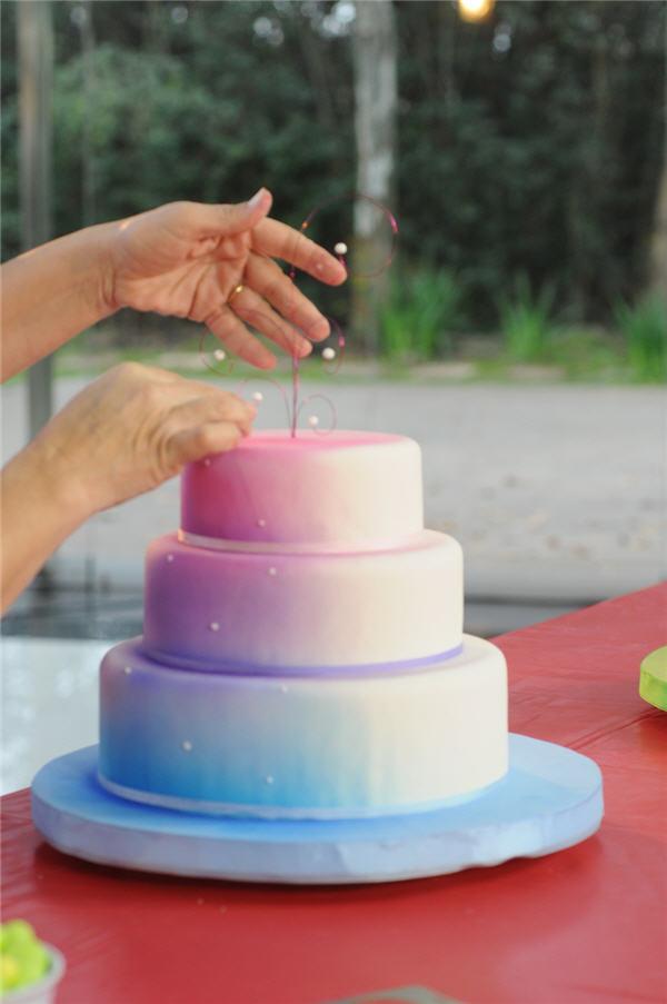 torta con la tecnica de aer u00f3grafo