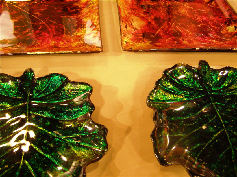 Vajilla De Vidrio Decorada Con Lacas Vitrales