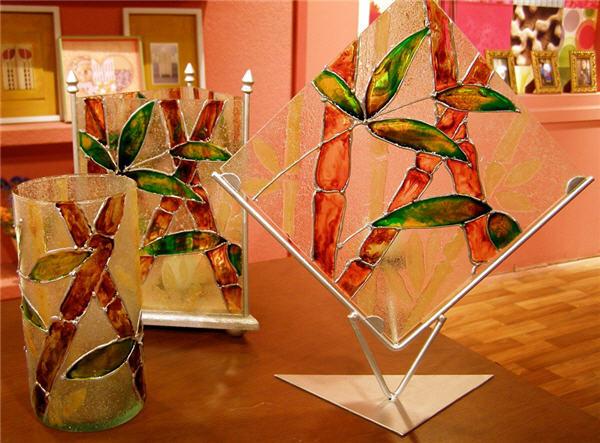 De todas las manualidades ca as de bambu for Color bambu pintura
