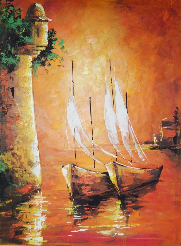 Pintura con esp tula cuadro cartagena - Como pintar un radiador ...