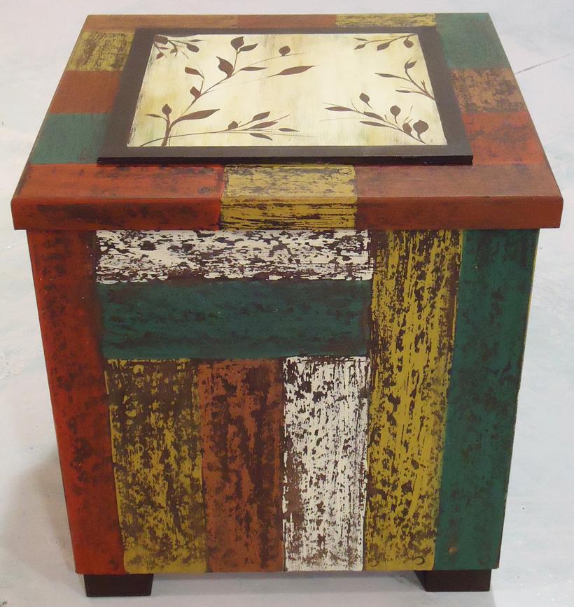 Caja imitaci n de maderas recuperadas decapado - Decapado sobre madera ...