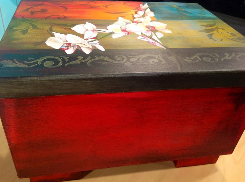 Pintura en acr lico caja estilo tnico latino - Decorarte pinturas ...